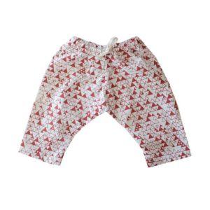 pantalon triangulos terracota